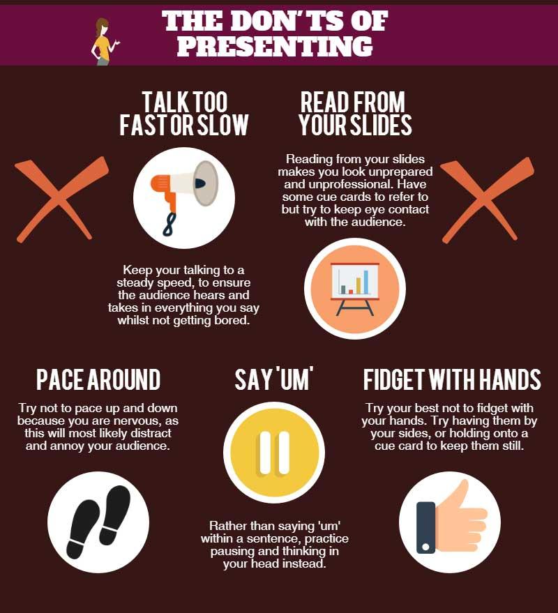 don'ts of effective presentation skills